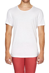 Sal Slouch Tee White