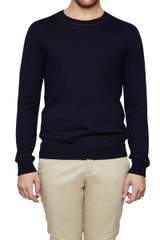 Duke Reverse Seam Knit Navy