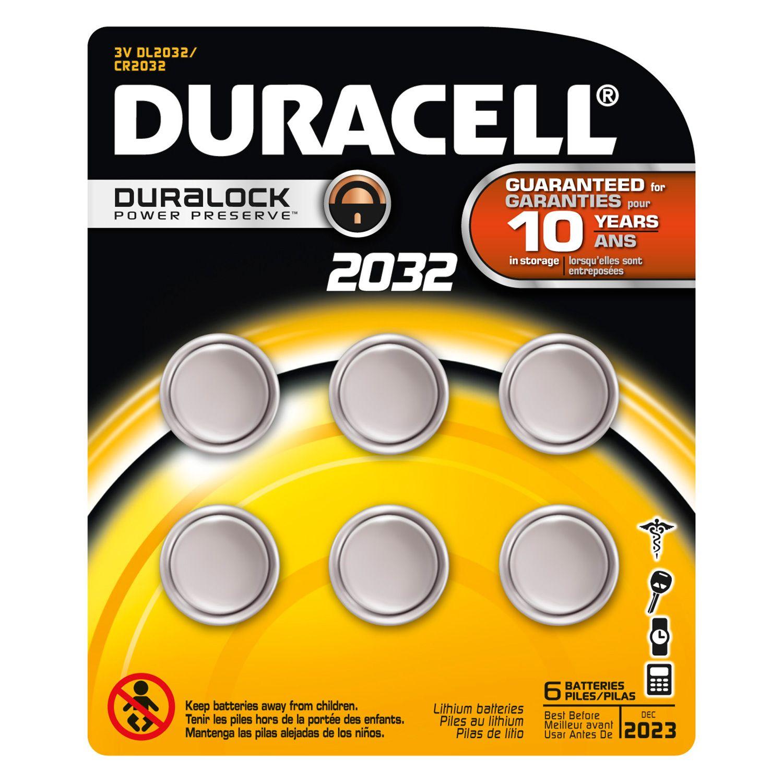 Duracell Dl2032 Cr2032 Batteries 3v Lithium 6 Pack