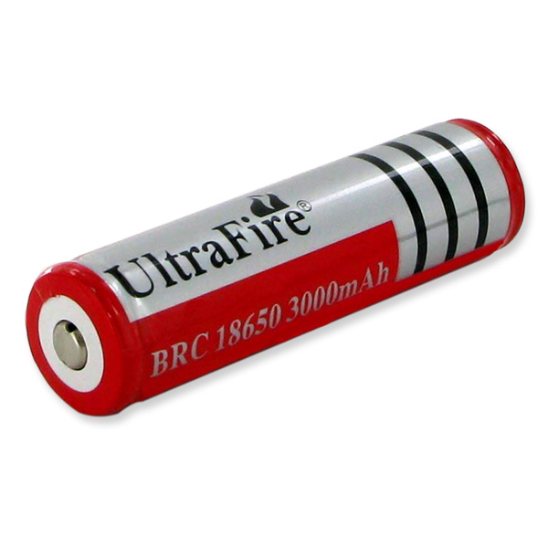 ultrafire brc 18650 flashlight battery 3 7 volt 3000mah. Black Bedroom Furniture Sets. Home Design Ideas