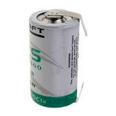 Saft LS26500-STS Battery - 3.6V Lithium C Cell with Solder Tabs