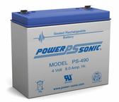4 Volt 9.0 Ah Battery - Rhino SLA9-4 Sealed Lead Acid Rechargeable