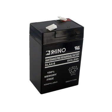 6 Volt 4.5 Ah Battery - Rhino SLA4-6 Sealed Lead Acid Rechargeable
