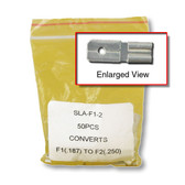 "F1 (.187"") to F2 (.250"") Adapter - 50 per bag"