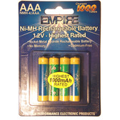 AAA Ni-MH Rechargeable Batteries - 4 Pack