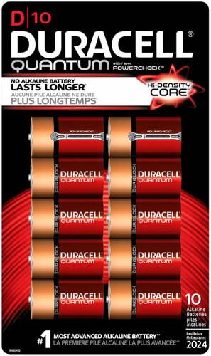 Duracell Quantum D Batteries 10 Pack Qu1300