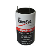 0810-0004 Battery by Enersys Cyclon 2 Volt 2.5 AH D Cell