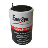 0800-0004 Battery by Enersys Cyclon 2 Volt 5.0 AH Sealed Rechargeable X Cell