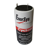 0850-0004 Battery by Enersys Cyclon 2 Volt 8.0 AH Sealed Rechargeable E Cell
