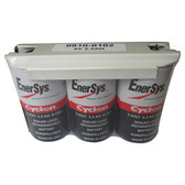0810-0102 6 Volt 2.5 AH 1x3 D Cell Battery - Enersys Cyclon Hawker