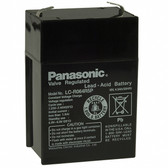 Panasonic LC-R064R5P Battery - 6V 4.5Ah Sealed Rechargeable, Replacement Batteries for GP640, GP640F1, GP645, GP645F1, LC-R064R2, LC-R064R2PU, LC-R064R5, LC-R064R5P, LC-RB064P, LCR064R2P, LCR6V4BP, PE6V4.5, PE6V4.5F1, PS-640, PS640, RBC-1