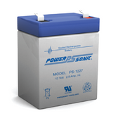 Power-Sonic PS-1227 Battery - 12V 2.7Ah Sealed Rechargeable, Replacement Batteries for PS-1227, PS1227