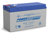 "Power-Sonic PS-1290 F2 Battery - 12 Volt 9.0 Amp Hour (.250"")"