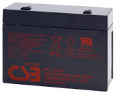 CSB HC1221W Battery - 12V 5.1Ah 21W/Cell Sealed Rechargeable