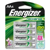 Energizer Recharge AA NiMH - Nickel Metal Hydride Batteries (4 Pack)