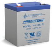 Power-Sonic PS-1250 F1 Battery - 12 Volt 5 Amp Hour