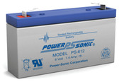 Power-Sonic PS-612 Battery - 12 Volt 1.4 Amp Hour