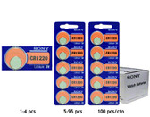Sony CR1220 Battery - 3V Lithium Coin Cell