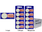 Sony CR2025 Battery - 3V Lithium Coin Cell
