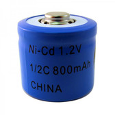N1/2C - 1/2C NiCd - Nickel Cadmium Rechargeable Battery (BUTTON TOP)