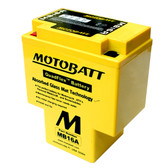 Motobatt MB16A Battery - AGM Sealed for Motorcycle - Powersport