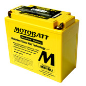 Motobatt MB18U Battery - AGM Sealed for Motorcycle - Powersport