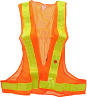 Flashing LED vest for cyclist, bikers and emergency personnel