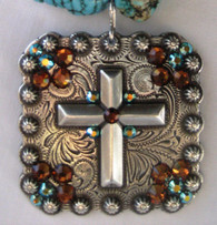 XL SWAROVSKI Crystal Cross Pendant
