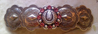 "Western Cowgirl Barrette. Swarovski Crystal Horse shoe center. Available in all colors.  Sterling Silver plated. PROUDLY HANDMADE IN THE USA! ""Made in France"" barrette back. Will not break slip or pop."