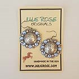 Swarovski Crystal Drop Concho Earrings