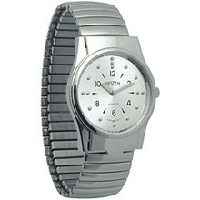 Mens Chrome Braille Watch