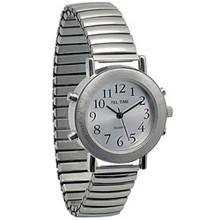 Mens Talking Watch Silver Color