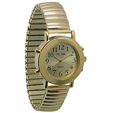 Mens Talking Watch Gold