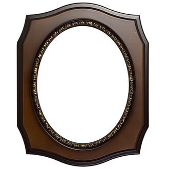 San Francisco Oval Frame # 609 Arc Sample - Walnut