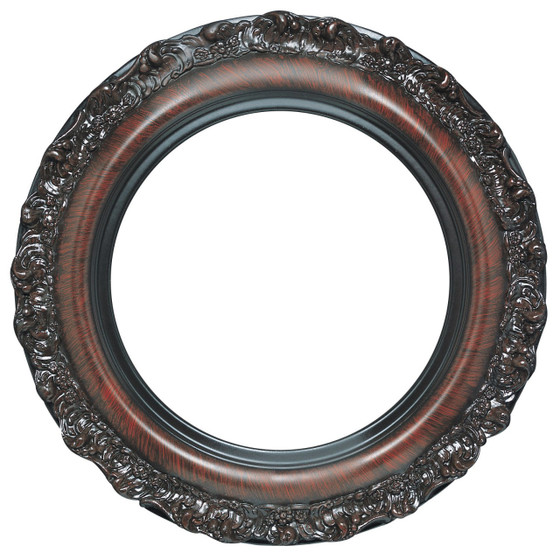 Round Frame In Taupe Finish Antique Wooden Picture Frames