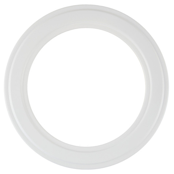 Round Frame in Linen White Finish| Simple White Picture Frames