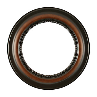Heritage Round Frame # 458 - Walnut