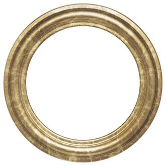 Philadelphia Round Frame # 460 - Champagne Gold