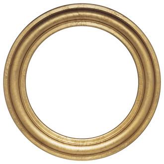 Philadelphia Round Frame # 460 - Gold Leaf