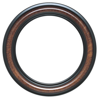 Philadelphia Round Frame # 460 - Vintage Walnut