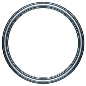 Saratoga Round Frame # 550 - Black Silver