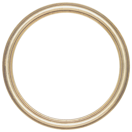 round frame in gold leaf finish simple antique gold