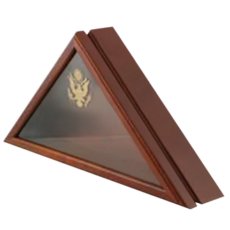 Honors Flag Case #371 - Walnut