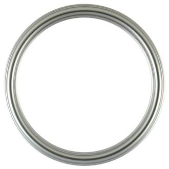 Saratoga Round Frame # 550 - Silver Spray