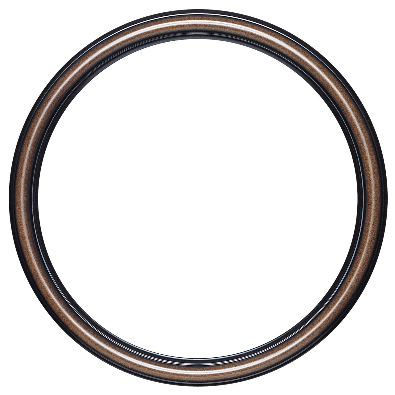 round frame in walnut finish simple brown wooden picture. Black Bedroom Furniture Sets. Home Design Ideas