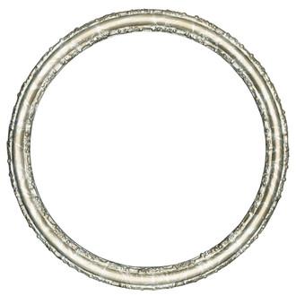 Virginia Round Frame # 553 - Champagne Silver