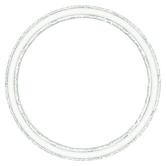 Virginia Round Frame # 553 - Linen White
