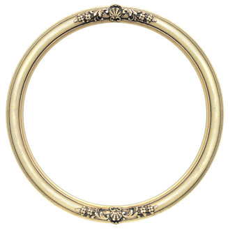 Contessa Round Frame # 554 - Gold Leaf