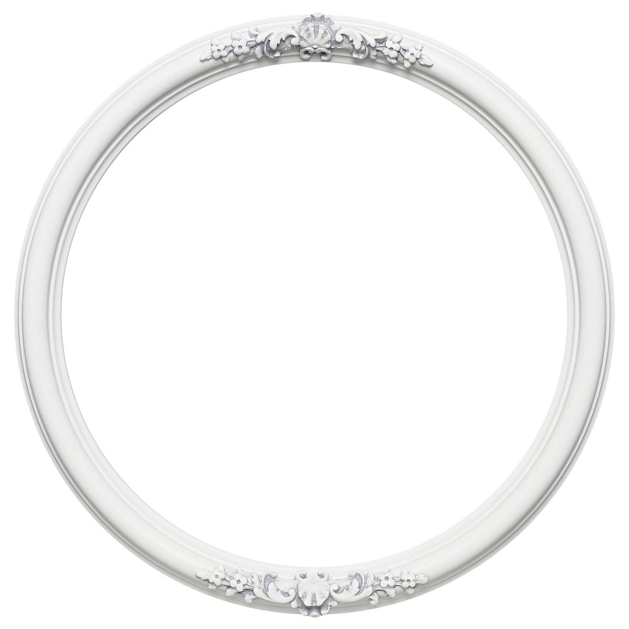 round frame in linen white finish vintage white picture. Black Bedroom Furniture Sets. Home Design Ideas