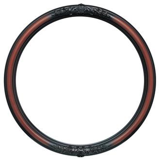 Contessa Round Frame # 554 - Rosewood